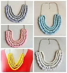 necklace trendy images Wholesale layered beaded statement necklace candy color necklace jpg