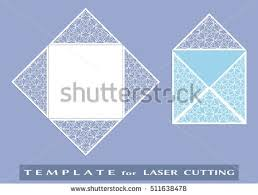 square envelope template cutting machine stock vector 367571522