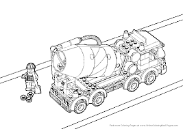 cement truck coloring page coloring home