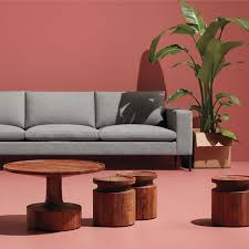 contemporary coffee table solid round turn blu dot