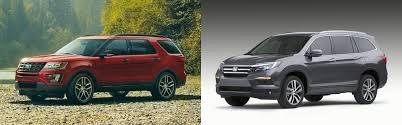 compare honda pilot and ford explorer compare the ford explorer vs honda pilot near kansas city mo