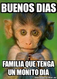 Buen Dia Meme - meme personalizado buenos dias familia que tenga un monito dia