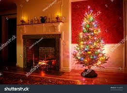 Christmas Trees With Lights Christmas Tree With Multicolored Lights Rainforest Islands Ferry