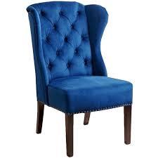 Blue Velvet Wingback Chair Abbyson Living Br Ac1059 Blu Sierra Tufted Velvet Wingback Dining