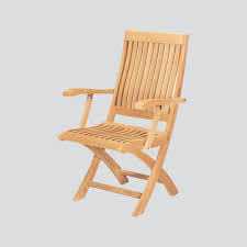 Folding Armchair Outdoor Chairs Hiteak Furniture