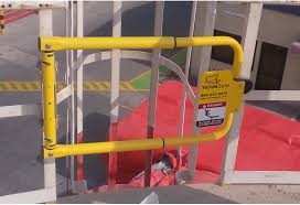 Self Closing Stair Gate by Swing Gates Osha Compliant Industrial Safety Gates Saferack