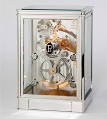 mechanical desk clock parmigiani fleurier 15 day table clock is exemplary mechanical