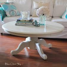 furniture amusing round pedestal coffee table design ideas white