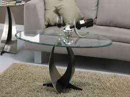 Glass Oval Coffee Table The Oval Glass Coffee Table For Minimalist Home Concept