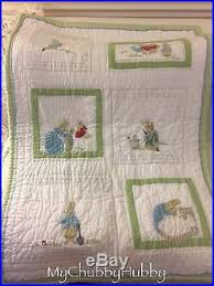 eeuc pottery barn kids beatrix potter crib toddler quilt peter
