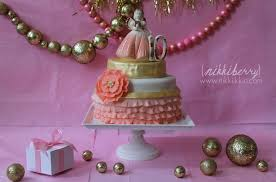 pink and gold cake table decor easy dessert table decorations