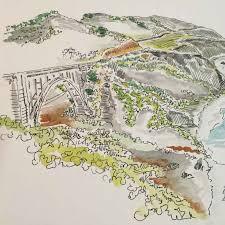 Big Sur Map Bixby Canyon Bridge Big Sur California Lindsay Hardy Art