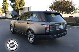 land rover gray matte gray range rover supercharged autobiography wrap bullys
