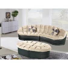 Sectional Sofa And Ottoman Set by Papasan Modern Style Velvet 2 Piece Sectional Sofa With Ottoman