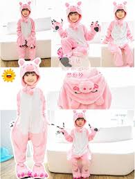 warm flannel christmas pajamas kids cartoon animal cosplay