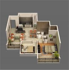 Floor Plan Of Two Bedroom House by 3d Two Bedroom House Layout Design Plans 22449 Interior Ideas