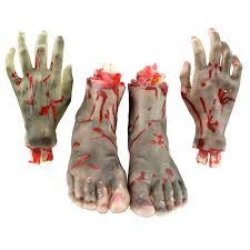 scary props 2pcs horrible scary props bloody faked human arm finger