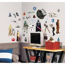 star wars classic peel u0026 stick wall decals toys