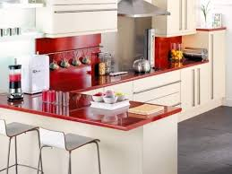 Small L Shaped Kitchen Design Modern Colorful Small L Shaped Kitchen With Bar Design Small L