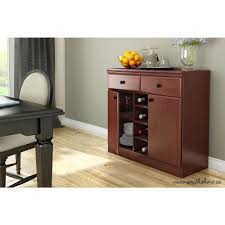Morgan Computer Desk With Hutch Natural by South Shore Morgan Royal Cherry Buffet With Wine Storage 7246770