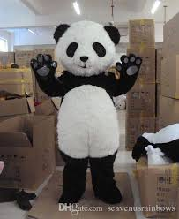 cute giant panda mascot costume animal panda bear cartoon