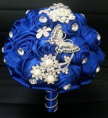 wedding flowers royal blue royal blue wedding bouquets with rhinestone