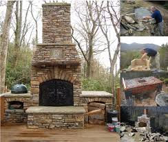 Patio Fireplace Kit by Best 20 Diy Outdoor Fireplace Ideas On Pinterest Small Fire Pit