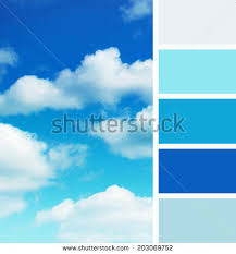 blue swatches background blue sky color palette swatches stock photo 203069752