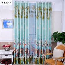 xyzls children animals side printed window curtains