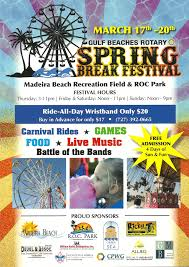 Madeira Beach Florida Map by Spring Break Festival By Gulf Beaches Rotary Treasure Island And