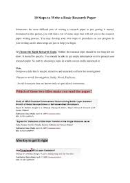 how write a research paper 10 steps to write a basic research paper