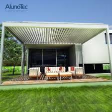 china motorised adjustable pergola roof system aluminum pergolas