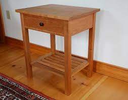 Cherry End Tables Vermont Handmade Mission End Table In Cherry Walnut Or Mahogany