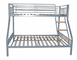 Three Sleeper Bunk Bed China Metal Triple Sleeper Bed With Wooden Slats Base China