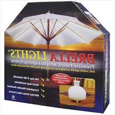 Patio Umbrella Lighting Patio With Lights Inspire Brella Lights Patio Umbrella Lighting