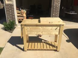 Patio Table Cooler by Ana White Patio Cooler Grill Cart Diy Projects