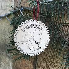 rustic snowbirds grandparent s ornament