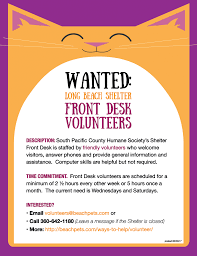 Long And Foster Help Desk Give Your Time Volunteer South Pacific County Humane Society