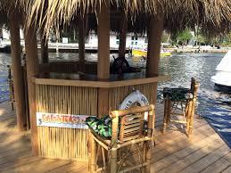 Tiki Hut On Water Vacation This Floating Tiki Bar From Cruisin U0027 Tiki Has Been Boating Down