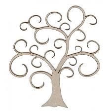 embellishments swirl tree small