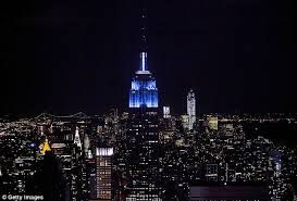 empire state building lights tonight empire state building turns blue as obama heads for another four