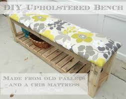 bench made out of pallets rustic garden bench