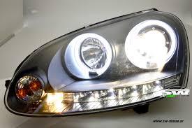 led strip lights headlights sw light angel eye headlights vw golf 5 03 08 ccfl helo rims black