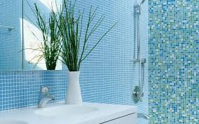 Blue Ceramic Floor Tile Bathroom Ideas Categoriez Add A Bright In A White Bathrooms