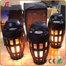 outdoor lights with bluetooth speakers china bluetooth speaker outdoor portable christmas led flame lights