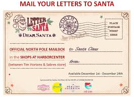 official letters from santa meet santa at canalside