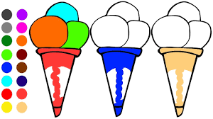 ice cream coloring page l coloring book learn colors for children