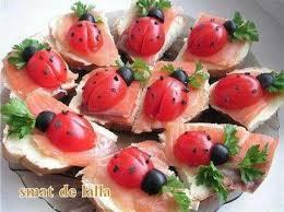 id e canap ap ritif coccinelle en aperitif recipe food food and essen