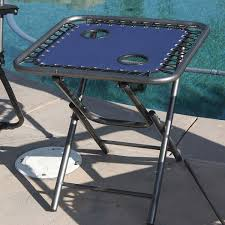 Table Cup Holder Navy 2 Zero Gravity Folding Lounge Chairs Folding Table Cup