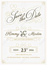 save the date designs vintage save the date card letterpress style design easy